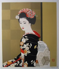 Tatsumi Shimura Rarely seen in Japan and nearly impossible to find outside of Japan as Tatsumi prints are extremely rare, highly cherished in Japan and seldom sold. Japanese Art Modern, Japanese Drawings, Japanese Prints, Japanese Culture, Geisha Kunst, Geisha Art, Japan Painting, China Painting, Art Occidental