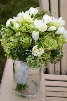 garden rose and freesia bouquet_edit Freesia Bouquet, Lush, Green Bouquets, Glass Vase, Wedding Flowers, Floral, Garden, Decor, Decoration