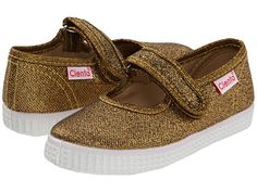 We love Cienta girls' shoes - glittery fabric takes them up a notch!