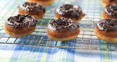 Baked Banana and Chocolate Doughnuts