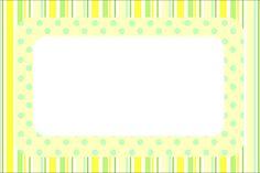 Verde e Amarelo – Kit Completo com molduras para convites, rótulos para guloseimas, lembrancinhas e imagens! |Fazendo a Nossa Festa