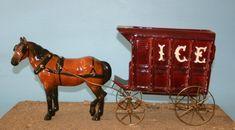 Dobbin in bay with Ice Wagon #632 Metlox California Pottery
