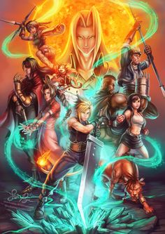 Final Fantasy VII: Supernova by Risachantag.deviantart.com on @DeviantArt