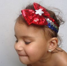 Toddler Fourth of July Sequins Headband by ChicEventsDecor on Etsy, $7.00
