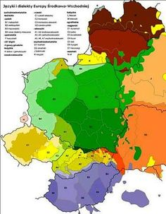 Map of Polish Language and Dialects