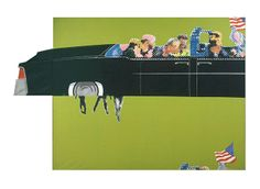 Credit: Courtesy of the Gerald Laing Estate/DACS, 2013 Gerald Laing, Lincoln Convertible, 1964 Lincoln Convertible, Allen Jones, Mass Culture, Peter Blake, Tate Britain, David Hockney, Jfk, Popular Culture, Famous People