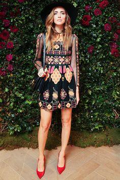 chiara-ferragni-blogueira-estilo-vestido-scarpin-chapeu