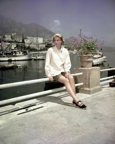 Grace Kelly, in Monaco shooting film. Today, actress; tomorrow, princess...