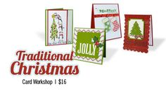 Traditional Christmas card workshop