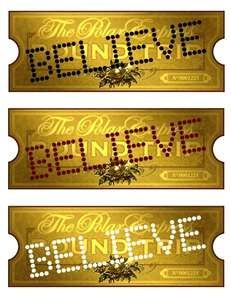 Printable polar express train tickets.....For Christmas Eve movie night....I can't wait!