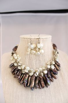 The Perfect Christmas Holiday Gift Chocolate by SUSANsBAUBLES, $825.00 Baroque Pearl Necklace, Baroque Pearls, Pearl Jewelry, Jewelry Art, Jewelry Gifts, Beaded Jewelry, Jewelery, Jewelry Necklaces, Fine Jewelry