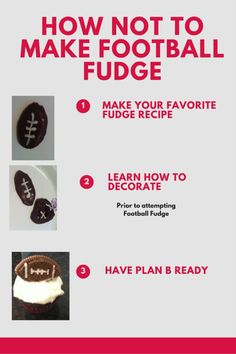 Enjoy the football season with Football Fudge. Use your favorite fudge recipe to…
