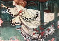 Youth and the Lady by Eleanor Fortescue-Brickdale  (1872–1945)