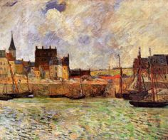 Harbour Scene, Dieppe via Paul Gauguin
