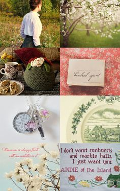 Anne of Green Gables Etsy Treasury --Pinned with TreasuryPin.com  #AnneofGreenGables, #AOGG, #LMMontgomery