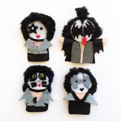 Kiss the band finger puppets by ilnostromostro on Etsy, €25.00