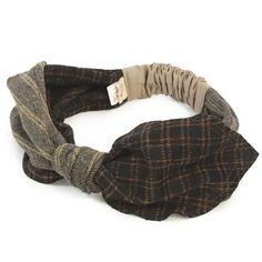 チェック&ストライプヘアバンド - CA4LA(カシラ)公式通販 - 帽子の販売・通販 - Head Wraps, Hair Band, Caps Hats, Headbands, Anthropologie, Couture, Headpieces, Sewing, Handmade