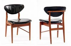 A Set of Four early teak and chairs Finn Juhl made by Niels Vodder 2