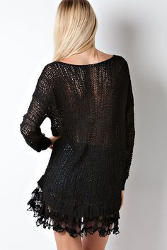 Knit Sydney Tunic in Black
