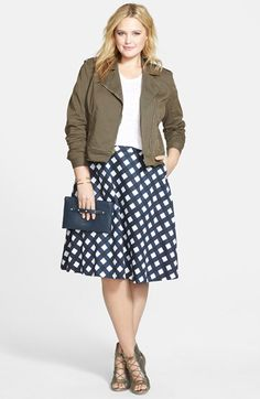 Plus Size Stretch Twill Moto Jacket