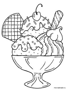Ice Cream Coloring Pages . 30 Ice Cream Coloring Pages . Free Printable Ice Cream Coloring Pages for Kids Ice Cream Coloring Pages, Food Coloring Pages, Coloring Sheets For Kids, Coloring Pages To Print, Free Coloring, Coloring Pages For Kids, Coloring Books, Free Printable Coloring Pages, Cupcake Coloring Pages