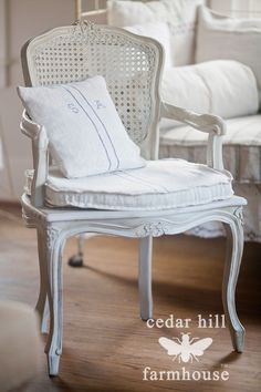 Country French Caned Chairs | WANTED | seen on Cedar Hill Farmhous