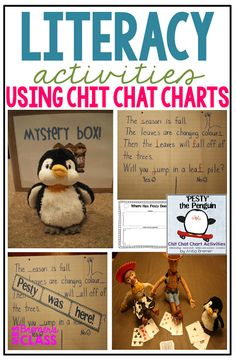 Literacy Activities that use a penguin 'pest' who messes with the morning message.an engaging way to get students involved in literacy activities as they help to fix the messages! Kindergarten Writing Activities, Literacy Skills, In Kindergarten, March Of The Penguins, 1st Grade Writing, Book Study, Morning Messages, Winter Activities, Winter Theme