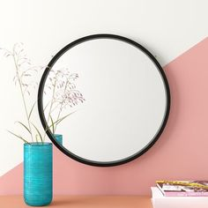 online shopping for Swagger Modern & Contemporary Accent Mirror Hashtag Home from top store. See new offer for Swagger Modern & Contemporary Accent Mirror Hashtag Home Circular Mirror, Round Wall Mirror, Wall Mounted Mirror, Entry Mirror, Dresser Mirror, Mirror Bathroom, Mirror Mirror, Wallpaper Panels, Wallpaper Roll