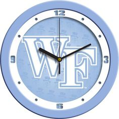 New - Wake Forest Demon Deacons-Baby Blue Wall Clock