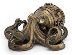 Bronze Steampunk Octopus Secret Trinket Box by DecoExpert on Etsy #steampunk