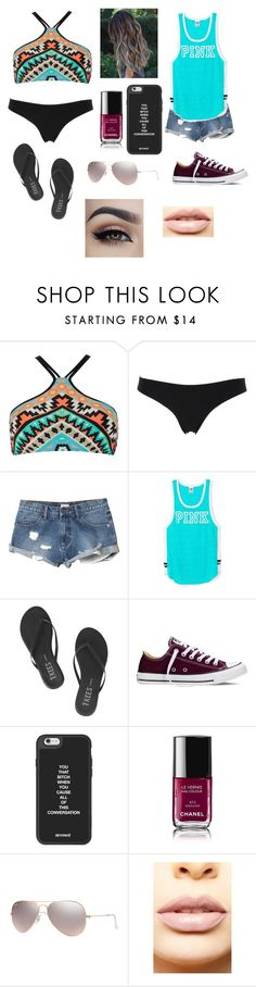 """""""Where's summer?!?"""" by amarianamichelle ❤ liked on Polyvore featuring Seafolly, La Perla, RVCA, Victoria's Secret, Tkees, Converse, Chanel, Ray-Ban, LASplash and Summer"""