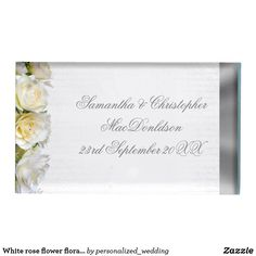 Shop White rose flower floral and silver wedding table card holder created by personalized_wedding. Wedding Sets, Wedding Favors, Wedding Reception, White Rose Flower, White Roses, Metal Card Holder, Card Table Wedding, Table Cards, Wedding Supplies