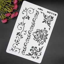 Floral Lace Sheet Masking Spray Stencil For Walls Painting Embossing Paper Crafts Scrapbook Stamp DIY Tools Photo Album Card(China (Mainland))