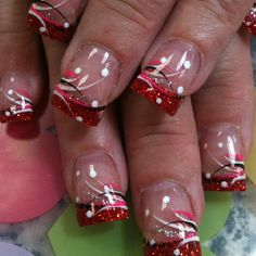 Різдвяні нігті - , Nägel,, Різдвяні нігті - Source by Holiday Nail Designs, French Nail Designs, Cute Nail Designs, Xmas Nails, Holiday Nails, Fancy Nails, Trendy Nails, Nagel Stamping, Nails Design With Rhinestones