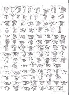 Como dibujar anime: Ojos!                                                       …
