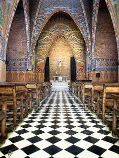 Art Deco chapel in L'esquerra De L'example, Barcelona, Catalonia, Spain by Paco CT