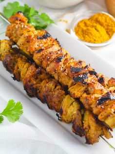 Low FODMAP and Gluten Free Recipe - Curried chicken kebabs - http://www.ibssano.com/low_fodmap_recipe_curried_chicken_kebabs.html