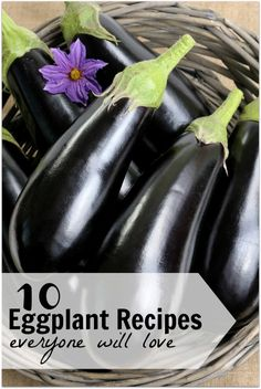 Ten Eggplant Recipes Everyone Will Love from Tipsaholic (and thanks for including my Eggplant Pizzas!)