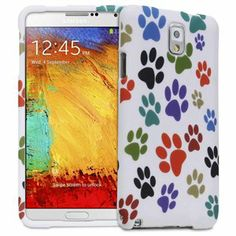 Fosmon MATT-DESIGN Series Rubberized Case for Samsung Galaxy Note 3 / Note III - Colorful Dog Paws $4.75