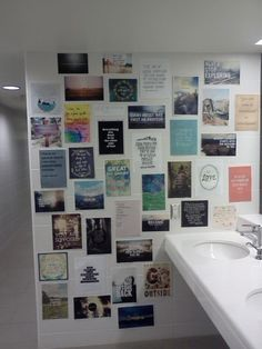 Best RA ever.  LT made an inspiration wall in the bathroom to help us get through exams.  I'm going to miss her smiling face next year <3