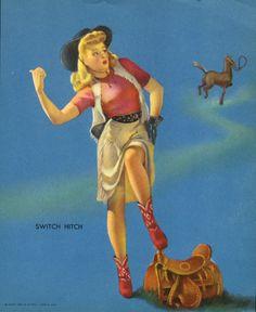 """Switch Hitch"" by Gil Elvgren, 1930s"