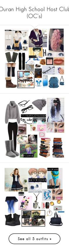"""""""Ouran High School Host Club (OC's)"""" by paranormal ❤ liked on Polyvore featuring Rick Owens, Bobbi Brown Cosmetics, PhunkeeTree, Meimei, Oasis, UGG, prAna, Tom Ford, Sweet & Co. and Converse"""