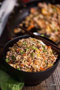 Pork Fried Rice, made with tender pork tenderloin, is a delicious and complete meal your family will love. See how easy it is to make pork fried rice just like a Chinese restaurant in your own kitchen! Rice Recipes, Pork Recipes, Asian Recipes, Dinner Recipes, Ethnic Recipes, Dinner Ideas, Chinese Recipes, Dinner Menu, Bread Recipes