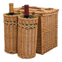 8-Piece Vino Wine & Cheese Basket Set