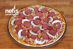 Evde Pizza Tarifi Nasıl Yapılır? (Videolu Garanti Lezzet) - Nefis Yemek Tarifleri Pizza, Food And Drink, Breakfast, Morning Breakfast