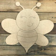 Bee Crafts For Kids, Summer Crafts, Arts And Crafts, Wooden Cutouts, Wooden Shapes, Wooden Crafts, Paper Crafts, Diy Crafts, Bumble Bee Honey