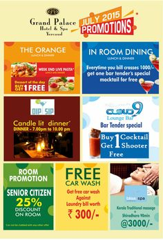 Happening July 2015 Promotions!!! #Grand #Palace #Hotel and #Spa #Yercaud For more informations: http://www.grandpalaceyercaud.com/offers.htm