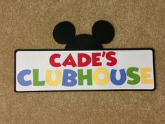 Mickey Mouse Clubhouse Personalized Sign by MonicaDawnDesigns, $14.00