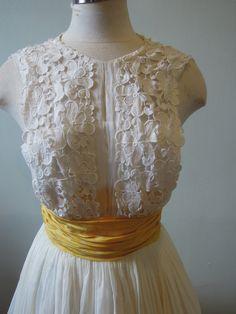 Gorgeous Vintage 1950s white dress Wedding dress by commissar, $500.00