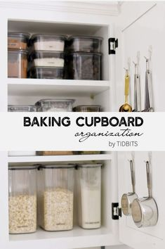 Have a well organized baking cupboard is essential to avoiding stress in the kitchen. I have come up with a pretty good method of storing my baking supplies and organizing ingredients with clear…More #smallkitchenstorage #kitchendiy